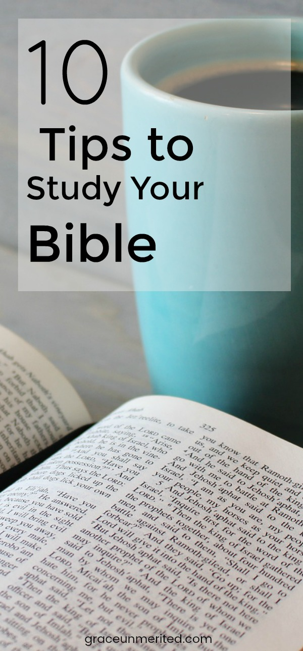10 tips to study your bible